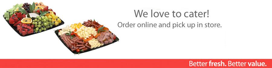 Order Cakes/Deli Trays Online!